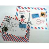 Caja Metal Con Diseño De Carta Pequeña