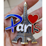Paris Francia Recuerdo 3d Iman Relieve Pais Souvenir 7-