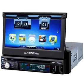 Dvd Player Automotivo Multilaser Extreme Retrátil Gps, Tv T