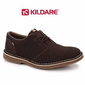 Sapato Kildare Bk1001 Baixo Couro Natural Camurça