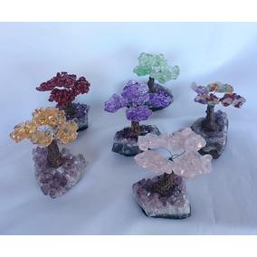 Lote Com 6 Árvores Ametista, Citrino, Quartzo Verde E Rosa