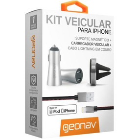 Kit 3 Em 1 Geonav Premium Acessórios Apple, Cabo Lightning