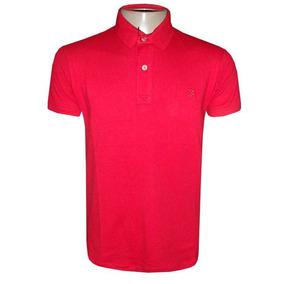 Camisa Ricardo Almeida Polo Vermelha Camiseta Masculina
