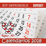 Kit Imprimible Calendarios 2018 Almanaques Promo 2x1