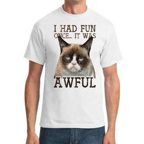 Remera I Had Fun Once It Was Awful Funny Cat Lover
