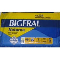 Fralda Bigfral Noturna G -fardo C/8 Pcte X 7 Unid=56 Fraldas
