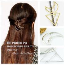 Gancho Para Cabello Geométrico Peinado Moda Look Regalo