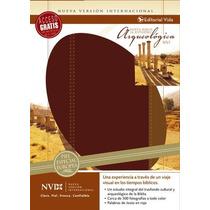 Biblia De Estudio Arqueológica Piel Europea Vino Cafe Nvi