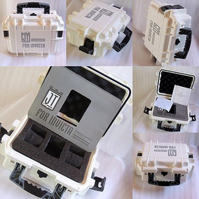 Caixa Estojo Maleta Case Box Invicta Para 3 Relógio Branca.
