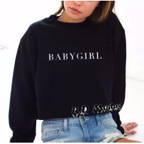 Moletom Careca Feminino Baby Girl Blusa De Frio Casaco