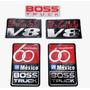 Juego De Emblemas Stickers Boss Truck 60 Aniversario México