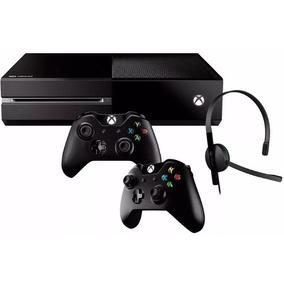 Xbox One 500gb 2 Controles + Fone De Ouvido + Nf