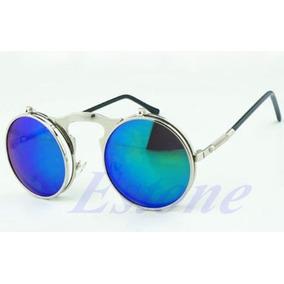 3a5f870bf8825 Oculos Redondo Lente Azul De Sol - Óculos con Mercado Envios no ...