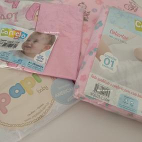 Bebê Enxoval Completo 14 Peças Cobertor Cueiro Lençol Fralda