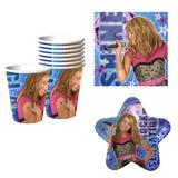 Hannah Montana Set De Fiesta Platos Vasos Servilletas Import