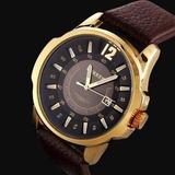Relógio Masculino Curren - Pulseira De Couro Modelo De Luxo