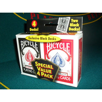 Carta Bicycle Nylon Rider Back 4 Mazos De Cartas Poker Magia
