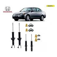 4 Amortecedores + Kit´s Batentes Do Honda Civic Ano 96/00