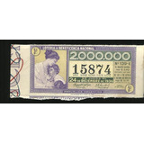 * Antiguo Billete De Loteria Usado Año 1936