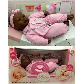Boneca Bebê Recém Nascida Negra Estilo Reborn - Divertoys