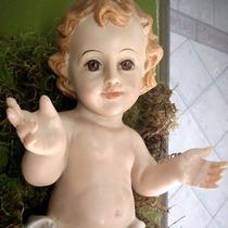 Imagen Religiosa - Niño Dios Ojos De Vidrio 20cm Pesebre