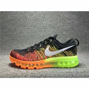 Nike Flyknit Air Max Unisex Black/orange/volt 620469-018