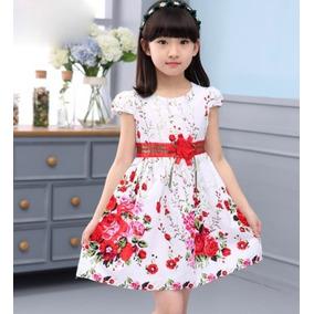 Vestidos Para La Princesa Con Estampado Floral. 2 - 11 Años-