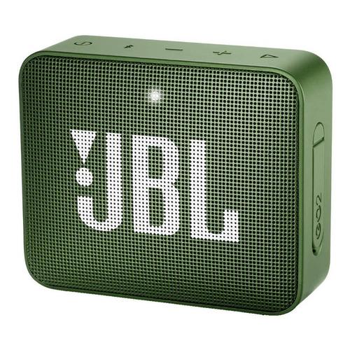 Alto-falante JBL Go 2 portátil com bluetooth moss green