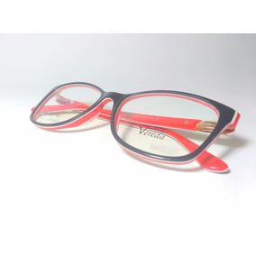 Óculos De Grau Feminino Vereda Black Red White + Brinde