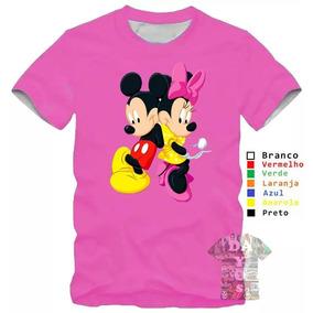 Camisa Camiseta Mickey Minnie Namorados Feminina Desenho 1