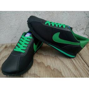 Tenis Nike Cortez Negro / Verde Envio Gratis