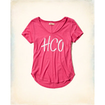 Camiseta Rosa Hollister