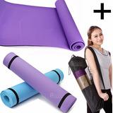 Mat Yoga Colchoneta Eva 6 Mm Fitness Gimnasia Grande + Bolso