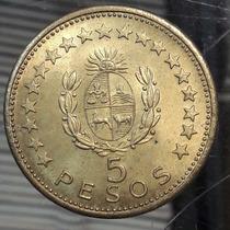 Uruguay Moneda De 5 Pesos Año 1965 Km# 47