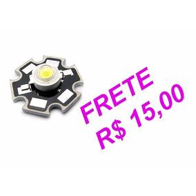 Super Led 3w- Branco Frio - 10000 - 15000k Com Dissipador