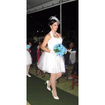 Vestido De Festa Fim De Ano Branco Casamento Civil Curto