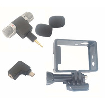Mini Microfone Estéreo Câmeras E Celulares Gopro Polaroids