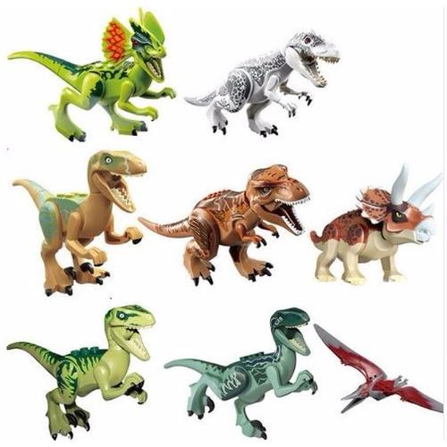 Kit 8 Jurassic World Indominus Rex Dinossauros Frete Gratis