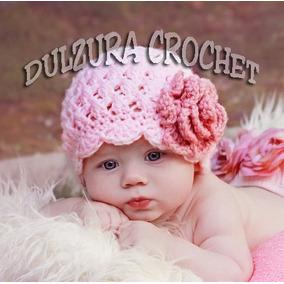 Gorros Tejidos Crochet Bebé 3-6 Meses Regalo Babyshower