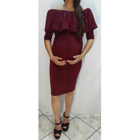 Vestido De Maternidad Color Vino.