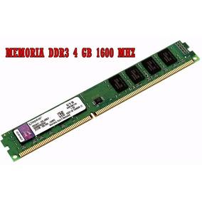 Aproveche! Memorias Ram Kingston Ddr3 4 Gb 1600 Mhz Pc!