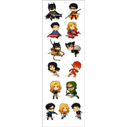Plancha De Stickers De Dc Universe Batman Superman Robin