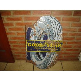 X - Antiguo Cartel Enlozado Good Year - La Rueda X