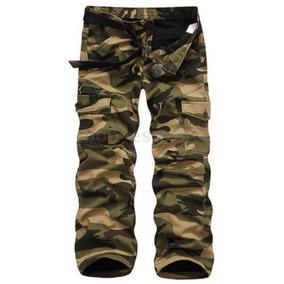 Pantalones De Algodón Militar Cargo... (army Gree.)