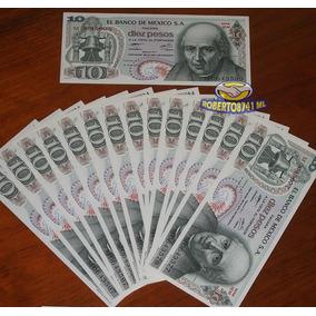 Billete 10 Pesos Hidalgo D 1977, Nuevos Sin Circular $35 C/u