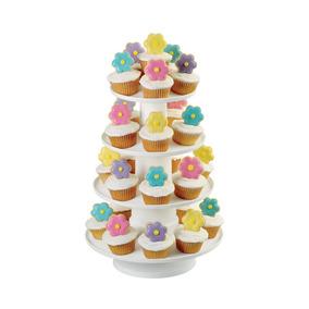 Soporte Torre Postres Y Cupcakes - Wilton - Blanco