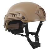 Casco Rothco Militar De Riel Airsoft Base Jump Helmet Coyote