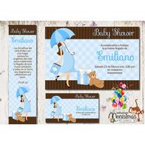 Invitacion Baby Shower Kit Imprimible Personalizado 1 Modelo