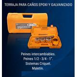 Terraja Caño Epoxi Galvanizado +maletin Gas 1/2-3/4-1