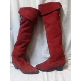 Botas Bucaneras Gamuza Color Rojo 39